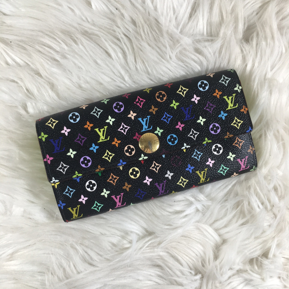 Louis Vuitton Handbags - Louis Vuitton Multicolor Long Sarah Wallet RARE